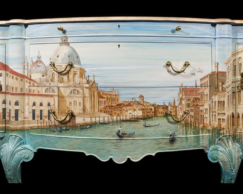 Venice on 1932 Waring & Gillow Sideboard
